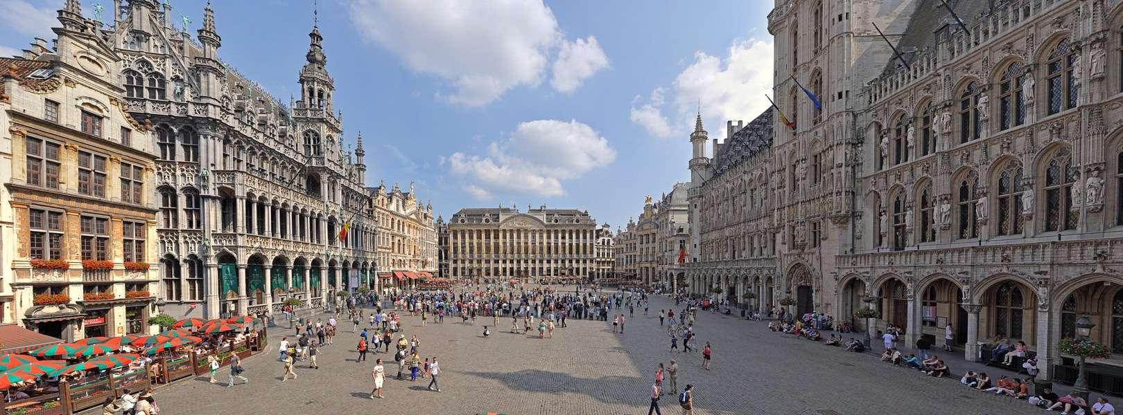 Blick auf den Grand Place in Brüssel der Hauptstadt von Belgien