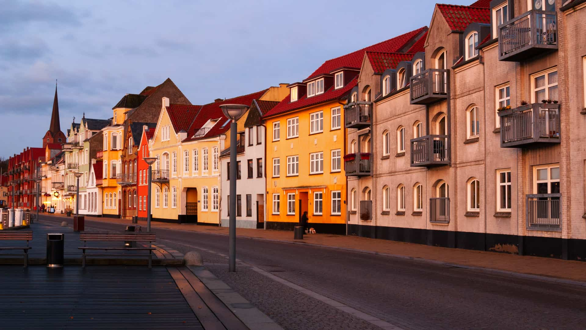 Die Stadt Sonderborg nähe Hafen