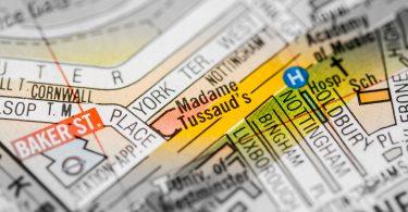 London Map: Madame Tussaud's.