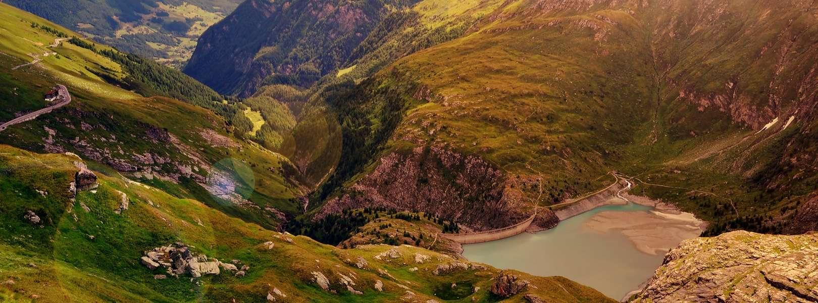 Blick auf den Nationalpark Hohe Tauern in Österreich