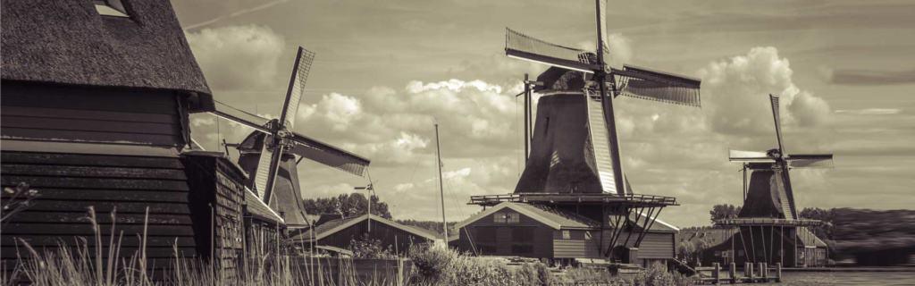 Besuchen Sie die Zaansche Mühlen, Holland