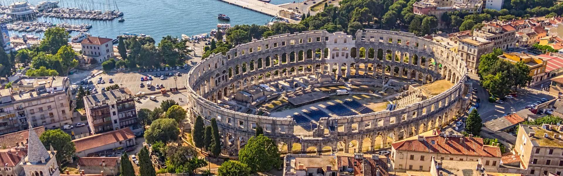 Ein Ort mit Geschichte: das Amphitheater in Pula, Kroatien