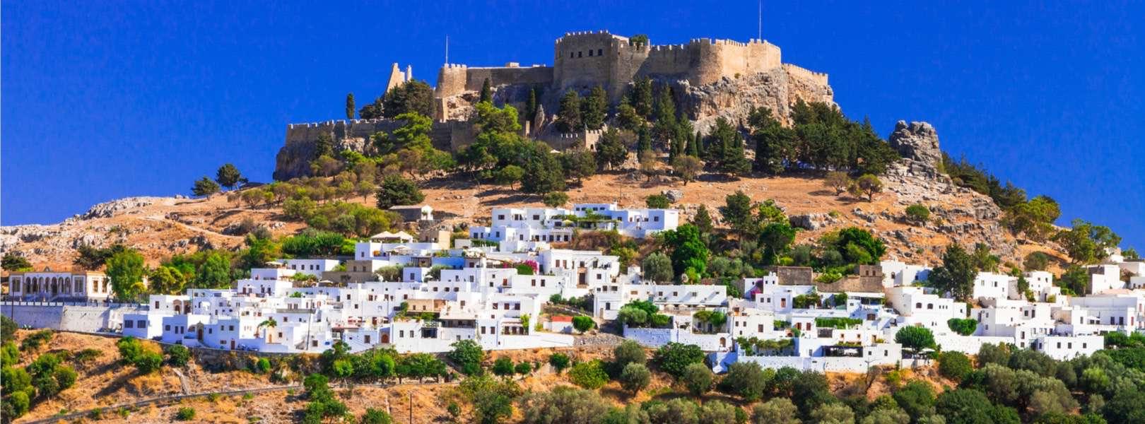 Sommerurlaub auf Rhodos - Blick auf die Insel Rhodos