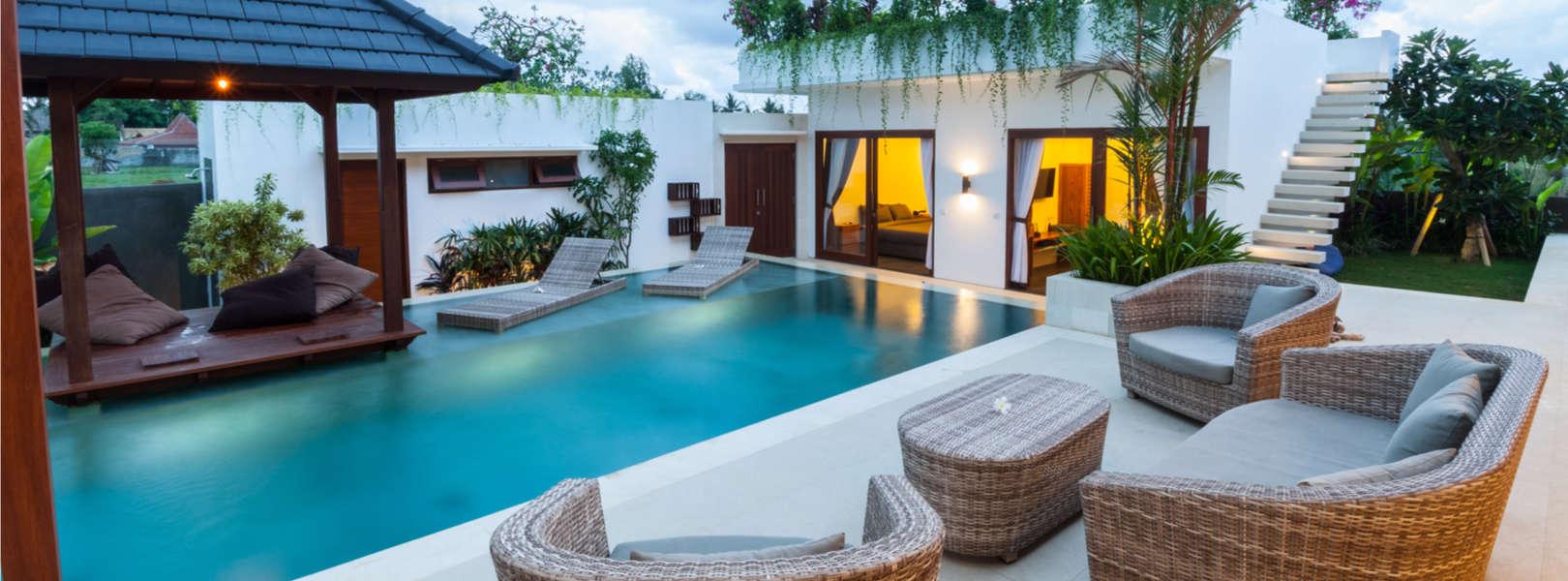 Blick auf eine moderne Ferienwohnung