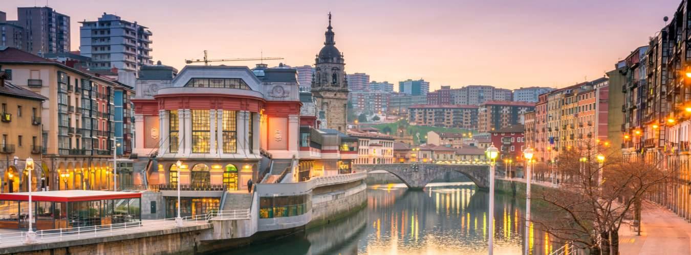 Blick auf die Stadt Bilbao