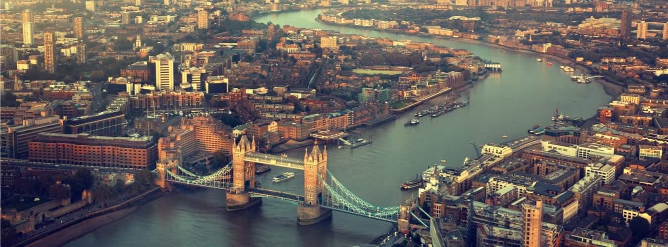 Blick auf England Sehenswürdigkeiten in London
