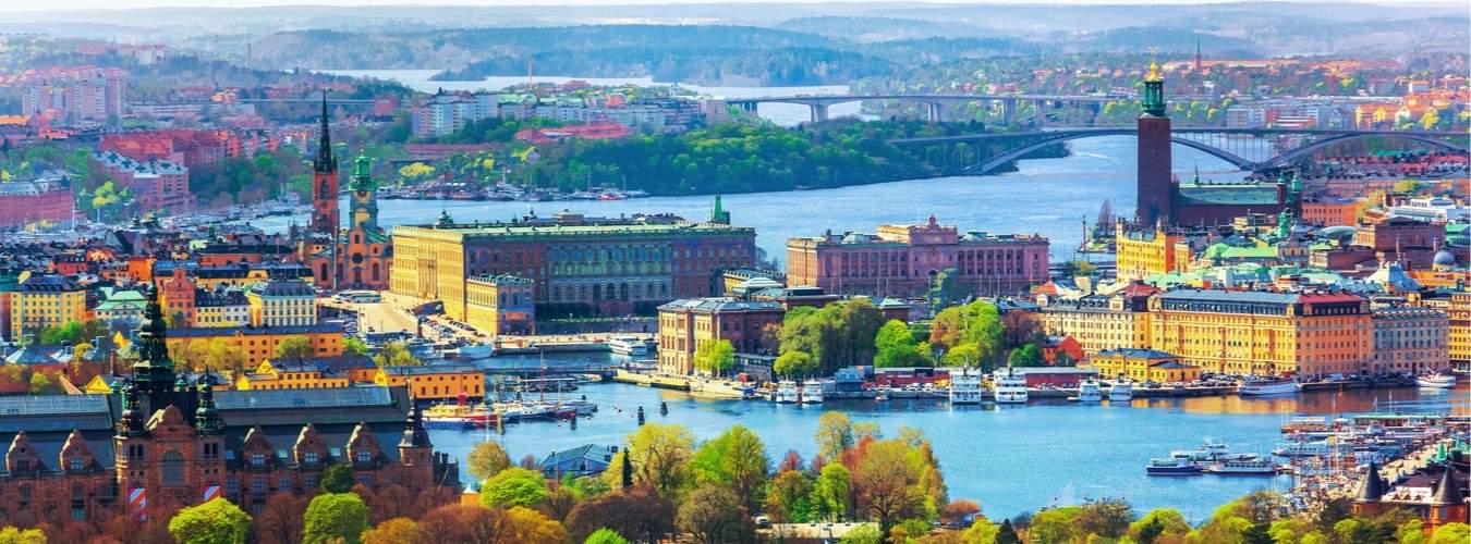 Blick auf Stockholm Schweden und die Altstadt