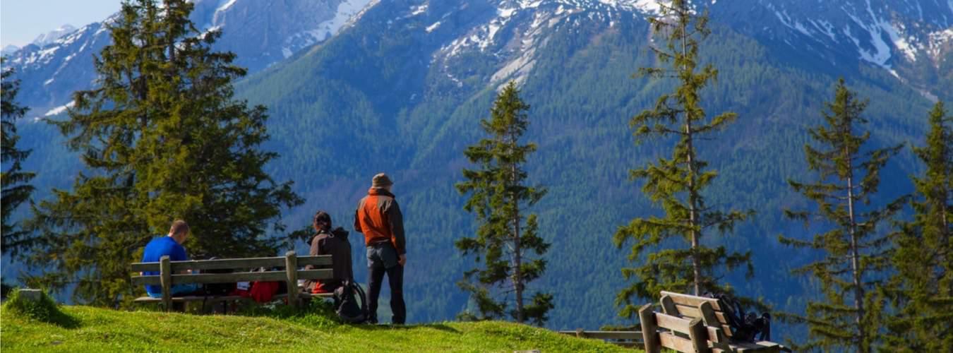 Blick auf die Alpen in Deutschland - Reiseziele in Deutschland