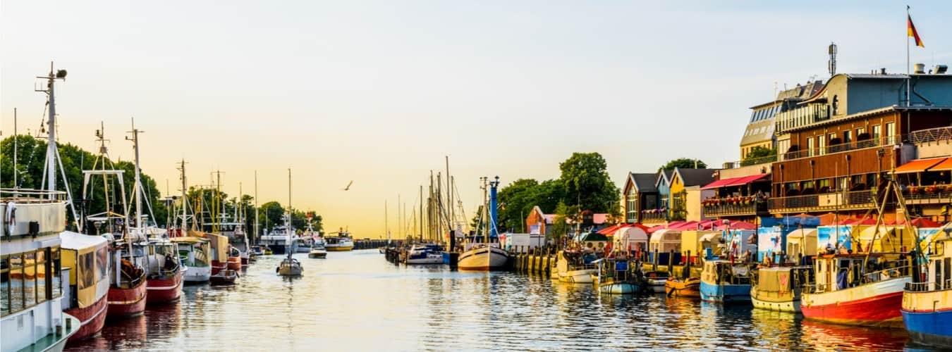 Blick auf die Ostsee in Rostock - Urlaubsziele in Deutschland