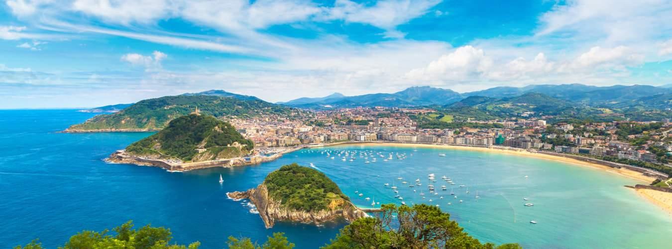 Baskenland: Blick auf die Bucht von San Sebastian