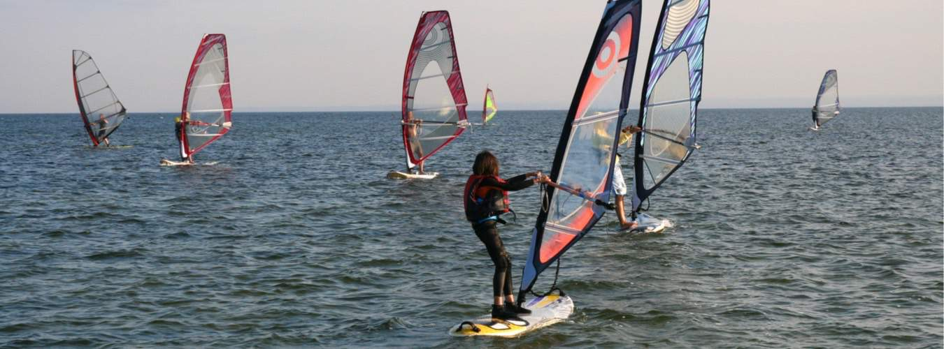 Blick auf die Ostsee - Super genießen den Wind und die Wellen